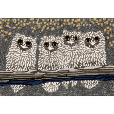 Liora Manne Frontporch Owls Hand Tufted Rectangular Rugs