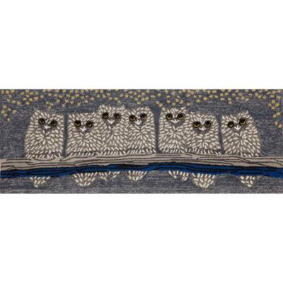 Liora Manne Frontporch Owls Hand Tufted Rectangular Runner