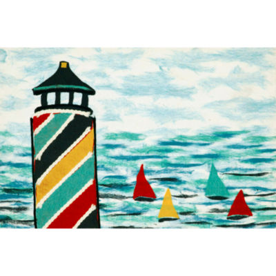 Liora Manne Visions Iv Lighthouse Rectangular Rugs