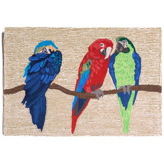 Liora Manne Frontporch Parrots Hand Tufted Rectangular Indoor/Outdoor Rugs