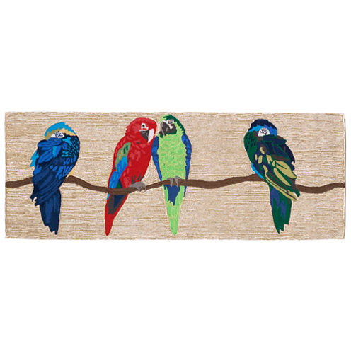 Liora Manne Frontporch Parrots Hand Tufted Rectangular Runner