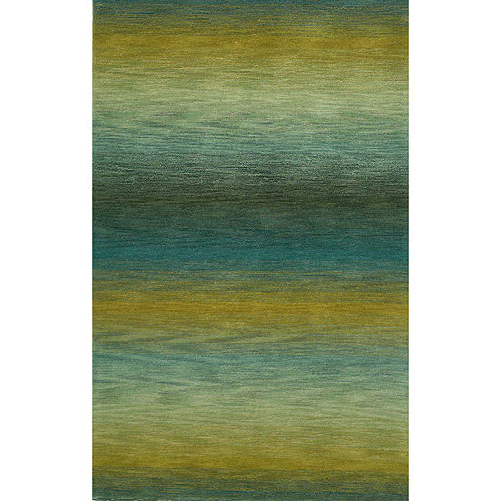 Liora Manne Ombre Stripes Hand Tufted Rectangular Indoor Rugs