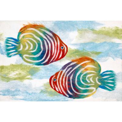Liora Manne Visions Iv Rainbow Fish Rectangular Rugs