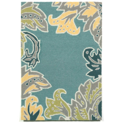 Liora Manne Ravella Ornamental Leaf Hand Tufted Rectangular Rugs
