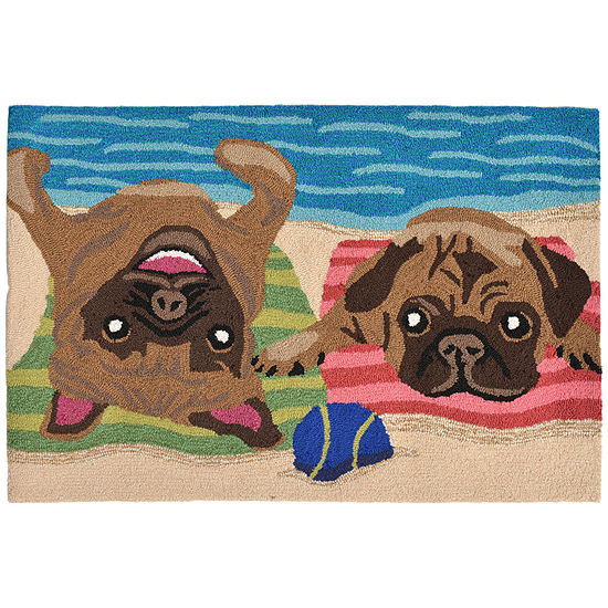 Liora Manne Frontporch Pug Life Hand Tufted Rectangular Rugs
