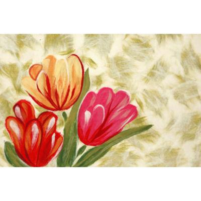 Liora Manne Visions Iv Tulips Rectangular Rugs