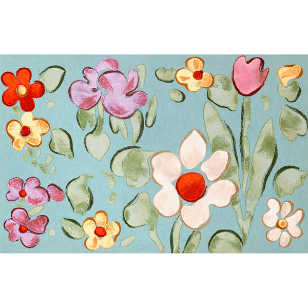 Liora Manne Visions Iv Watercolor Flower Rectangular Rugs