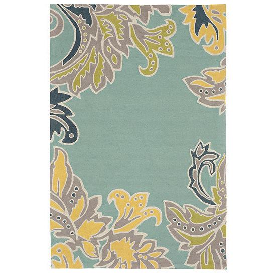 Liora Manne Ravella Ornamental Leaf Hand Tufted Rectangular Indoor/Outdoor Rugs