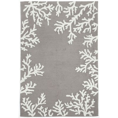 Liora Manne Capri Coral Hand Tufted Rectangular Indoor/Outdoor Area Rug