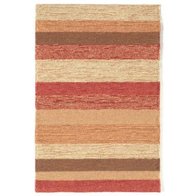 Liora Manne Ravella Stripe Hand Tufted Rectangular Indoor/Outdoor Rugs