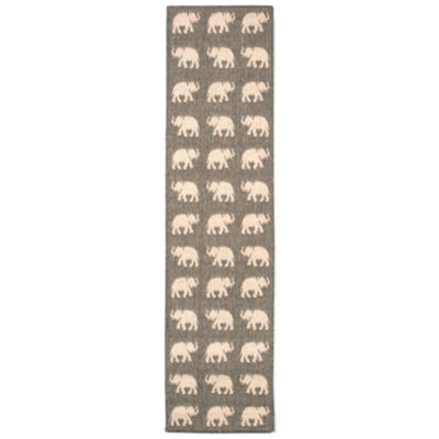 Liora Manne Terrace Elephants Rectangular Runner