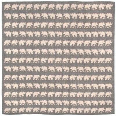 Liora Manne Terrace Elephants Square Indoor/Outdoor Area Rug