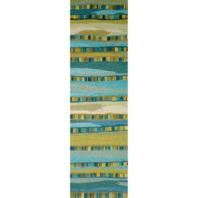 Liora Manne Seville Mosaic Stripe Hand Tufted Rectangular Runner