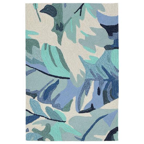Liora Manne Capri Palm Leaf Hand Tufted Rectangular Indoor Outdoor Rugs