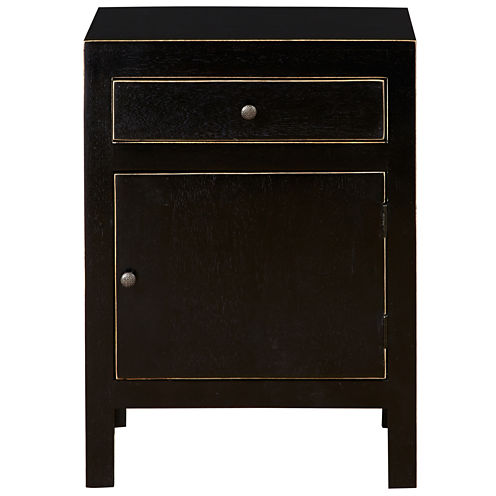 Pulaski Furniture  Black And Gold Rubbed Accent Chest