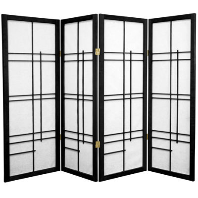 Oriental Furniture 4' Eudes Shoji 4 Panel Room Divider