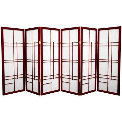 Oriental Furniture 4' Eudes Shoji 6 Panel Room Divider