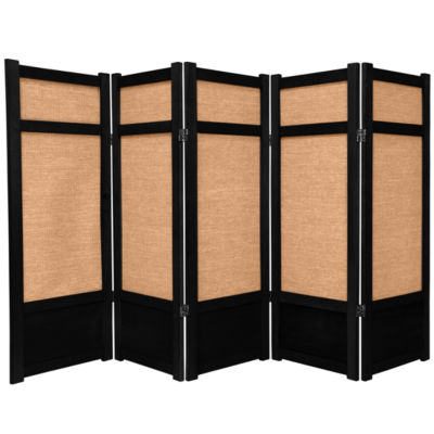 Oriental Furniture 4' Jute Shoji 5 Panel Room Divider