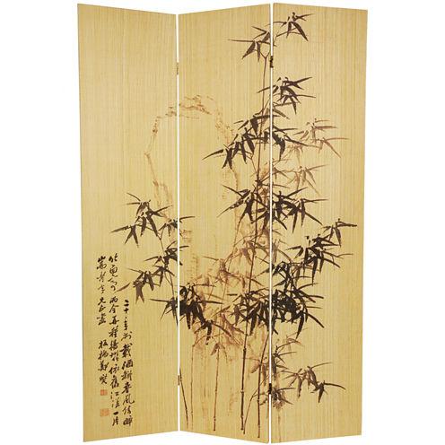 Oriental Furniture 6' Frameless Bamboo Room Divider