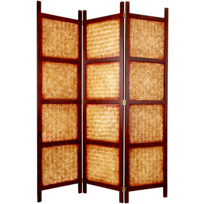 Oriental Furniture 6 Amakan Screen Room Divider