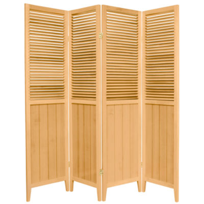 Oriental Furniture 6' Beadboard 4 Panel Room Divider