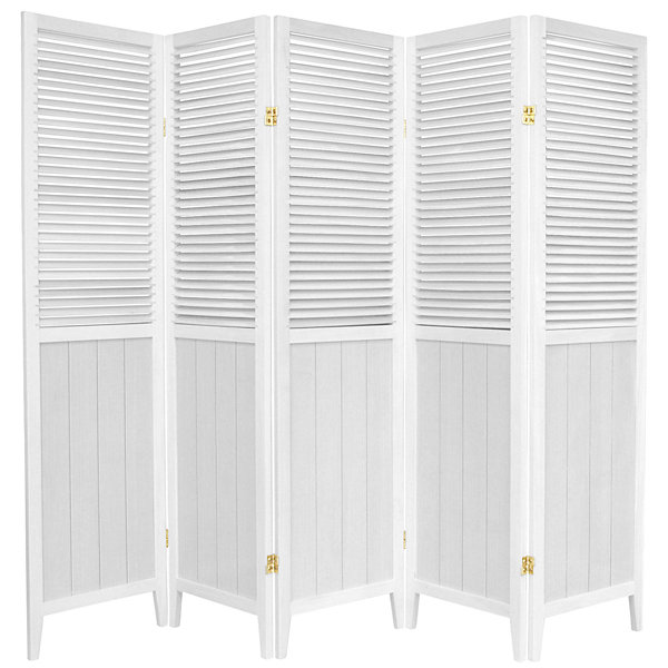 Oriental Furniture 6' Beadboard 5 Panel Room Divider