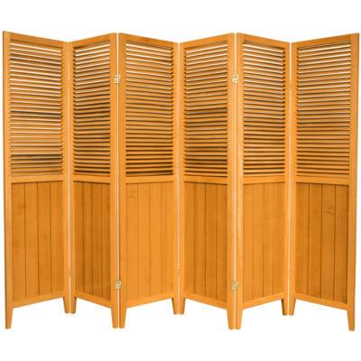 Oriental Furniture 6' Beadboard 6 Panel Room Divider