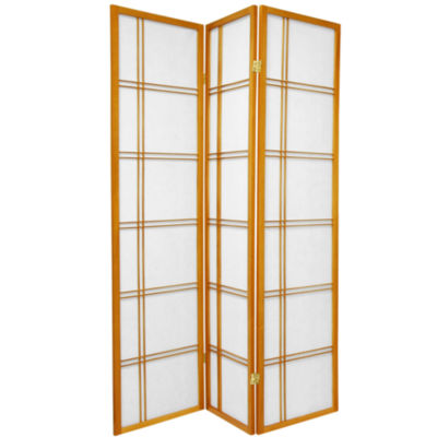 Oriental Furniture 6' Double Cross Shoji 3 Panel Room Divider