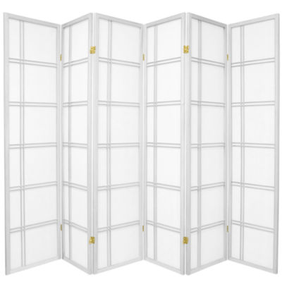 Oriental Furniture 6' Double Cross Shoji 6 Panel Room Divider