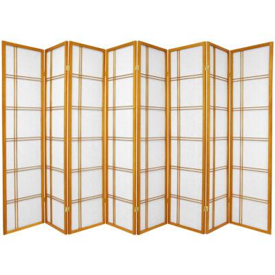 Oriental Furniture 6' Double Cross Shoji 8 Panel Room Divider