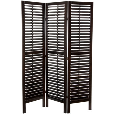 Oriental Furniture 6' Double Shutter 3 Panel RoomDivider