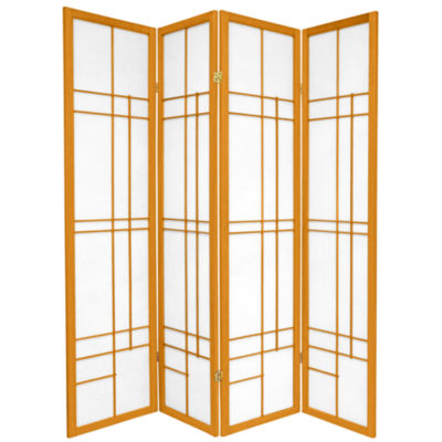Oriental Furniture 6' Eudes Shoji 4 Panel Room Divider