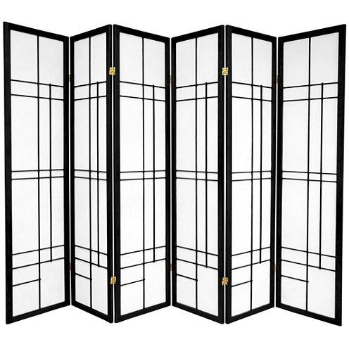 Oriental Furniture 6' Eudes Shoji 6 Panel Room Divider