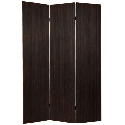 Oriental Furniture 6' Frameless Bamboo 3 Panel Room Divider