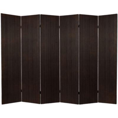 Oriental Furniture 6' Frameless Bamboo 6 Panel Room Divider