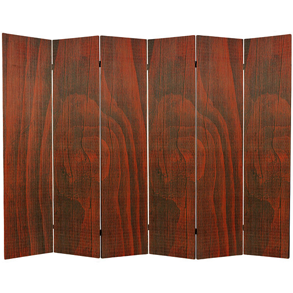 Oriental Furniture 6' Frameless Bamboo 6 Panel Room Divider