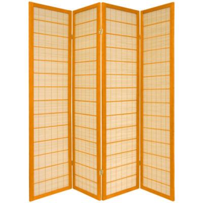 Oriental Furniture 6' Kimura Shoji 4 Panel Room Divider