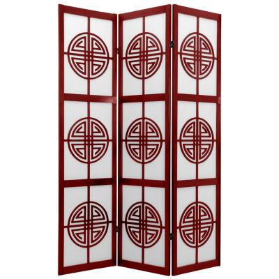 Oriental Furniture 6' Long Life Shoji 3 Panel RoomDivider