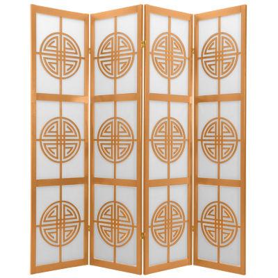 Oriental Furniture 6' Long Life Shoji 4 Panel RoomDivider