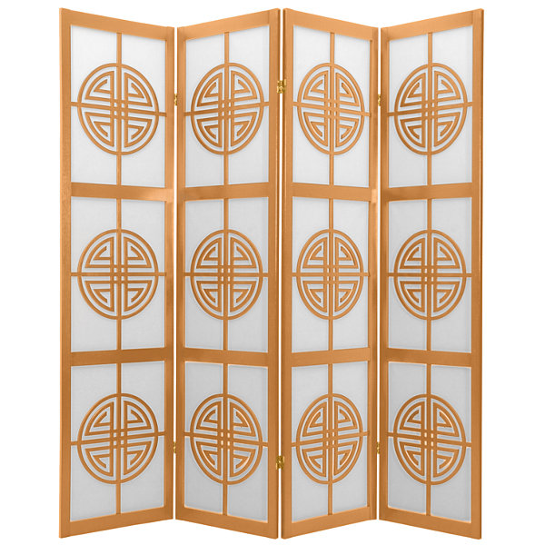 Oriental Furniture 6' Long Life Shoji 4 Panel RoomDivider
