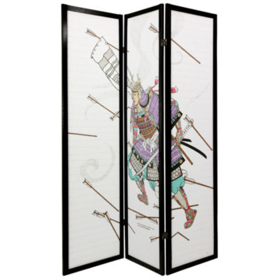 Oriental Furniture 6' Samurai Shoji 3 Panel Room Divider