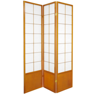 Oriental Furniture 6' Zen Shoji 3 Panel Room Divider