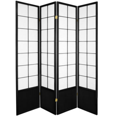 Oriental Furniture 6' Zen Shoji 4 Panel Room Divider