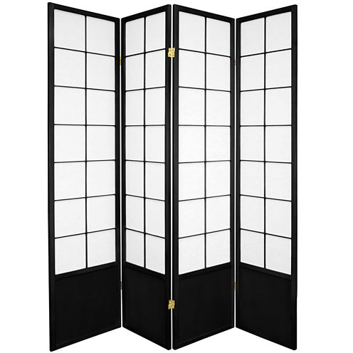 Oriental Furniture 6' Zen Shoji 4 Panel Room Divider