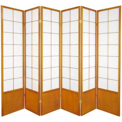 Oriental Furniture 6' Zen Shoji 6 Panel Room Divider
