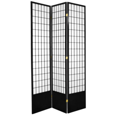 Oriental Furniture 7' Window Pane Shoji 3 Panel Room Divider
