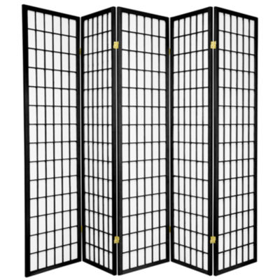 Oriental Furniture 6' Window Pane Shoji 5 Panel Room Divider
