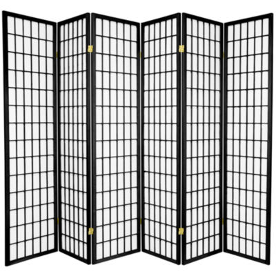 Oriental Furniture 6' Window Pane Shoji 6 Panel Room Divider