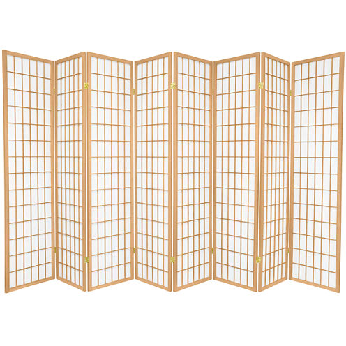 Oriental Furniture 6' Window Pane Shoji 8 Panel Room Divider