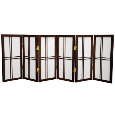 Oriental Furniture 6' Pure Leaves Room Divider